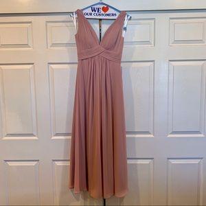 Azazie Mauve Bridesmaid Dress - hemmed